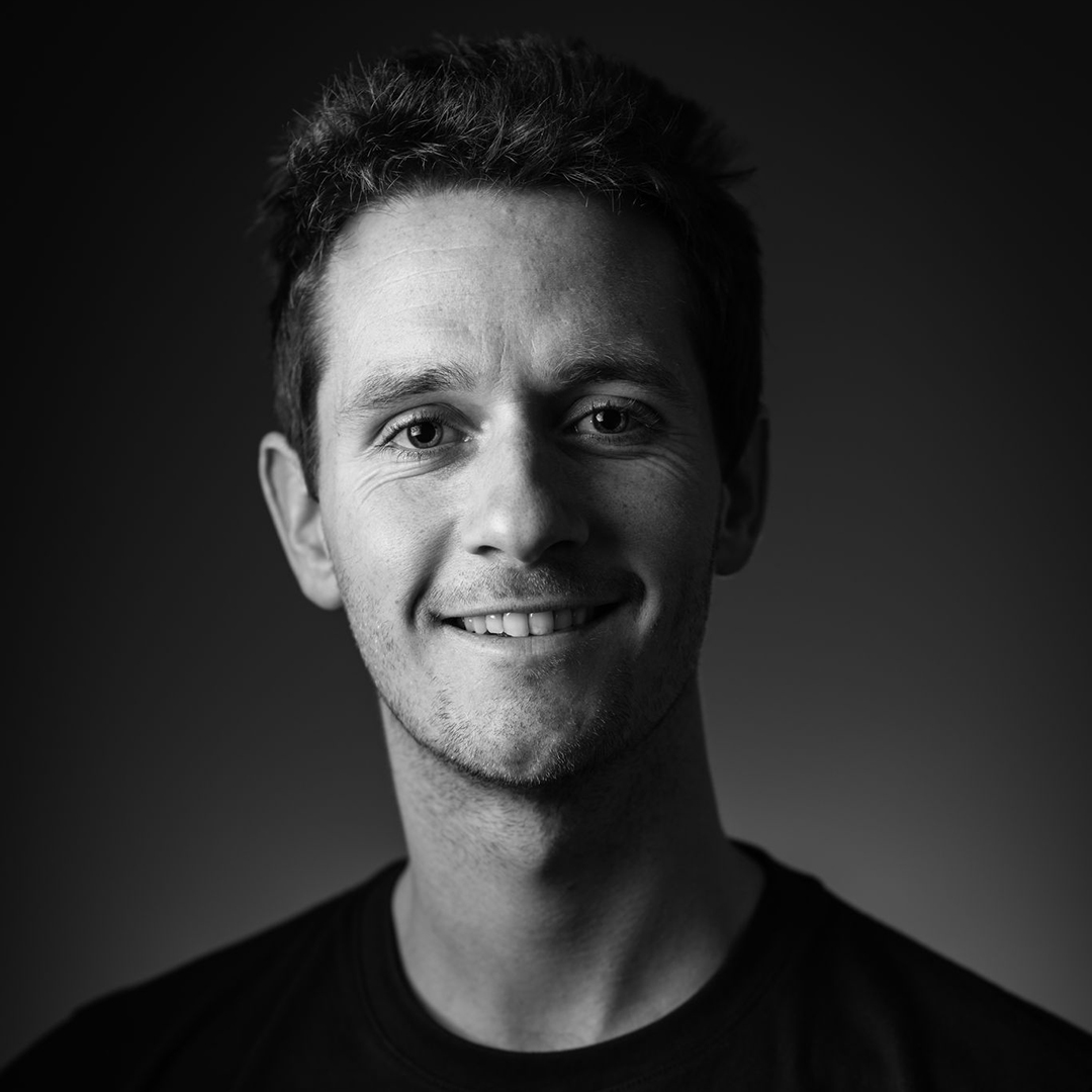 Close-up portrait of Robbie Arnott.