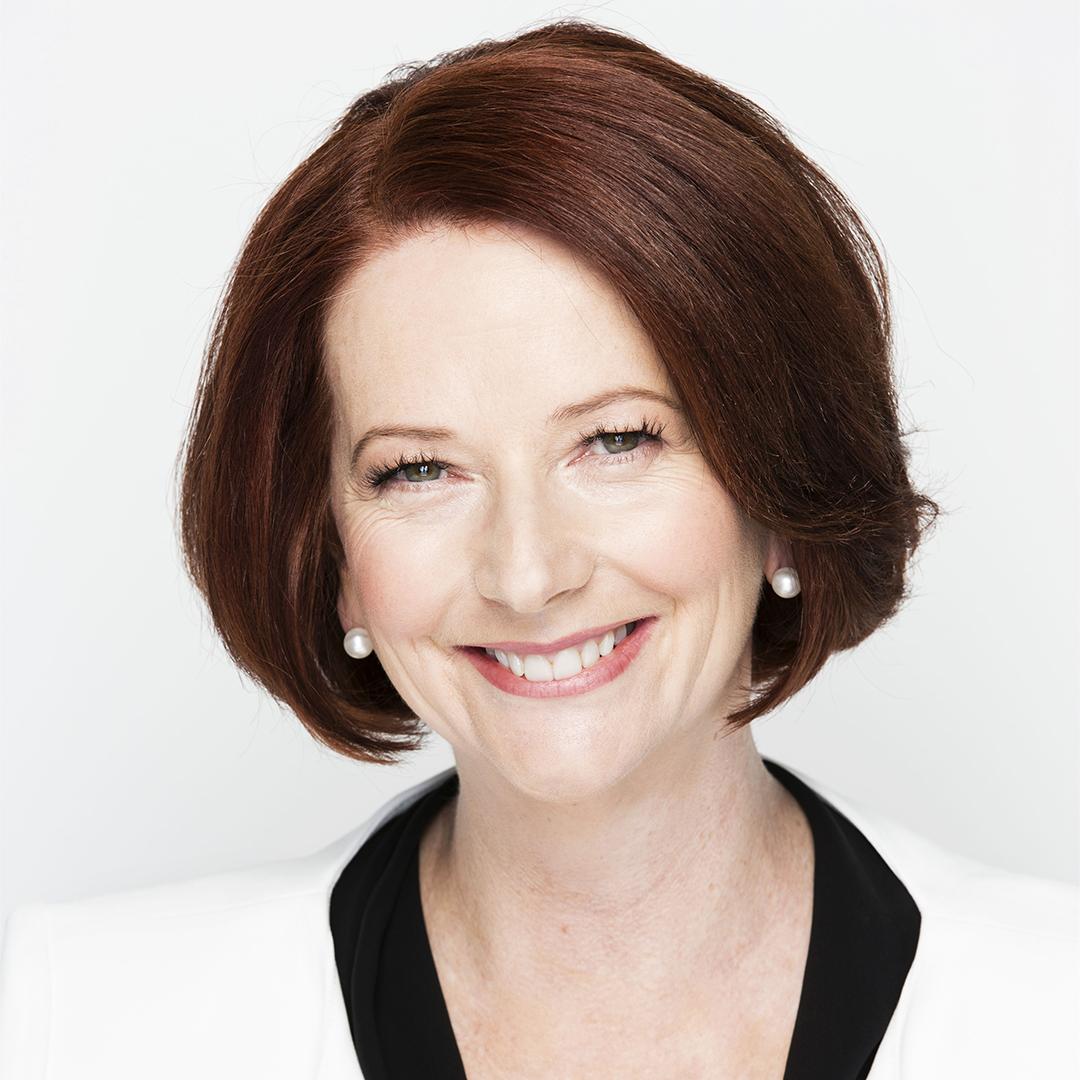 Close-up portrait of Julia Gillard.