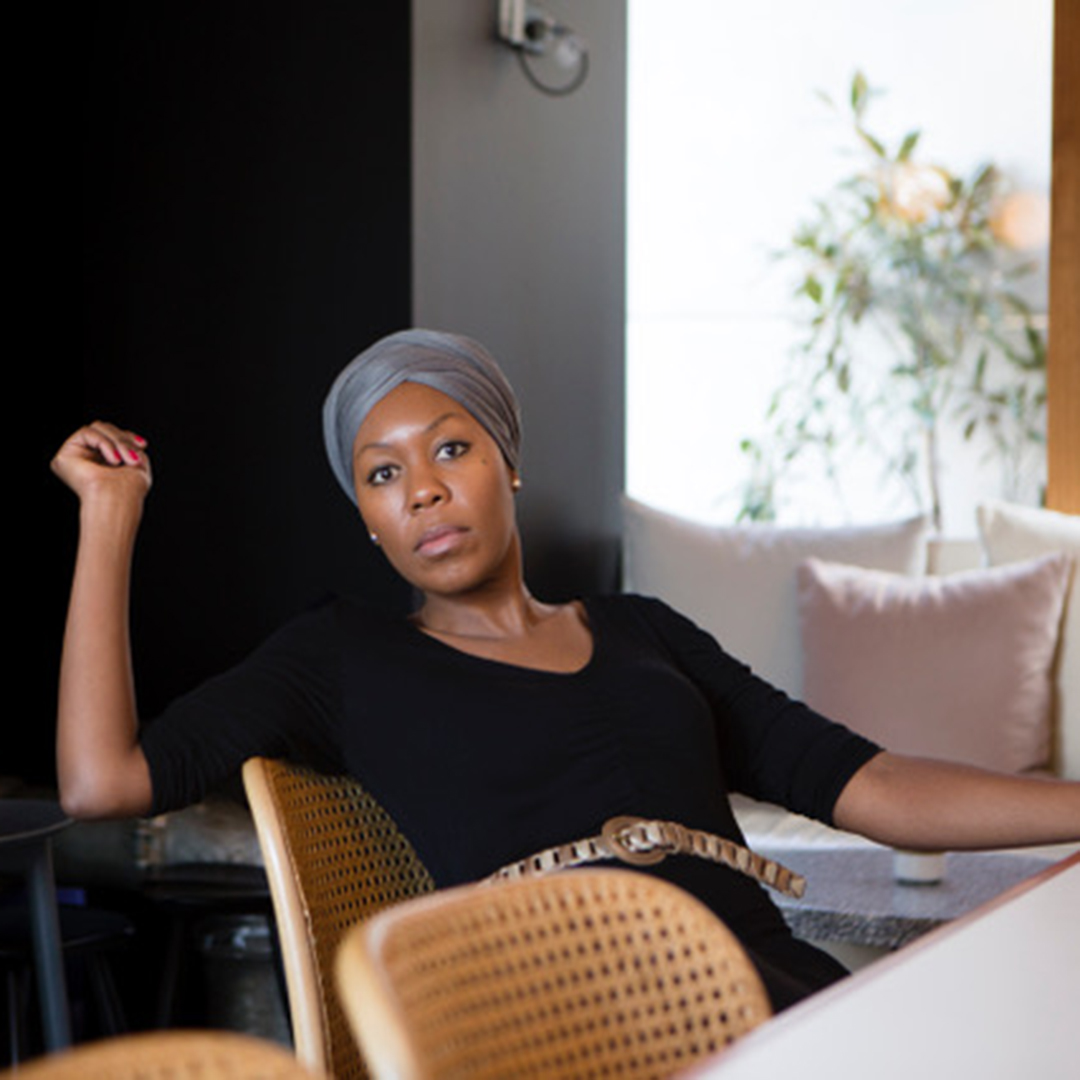 Portrait of Sisonke Msimang.